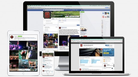 Examples of NC State social media networks.